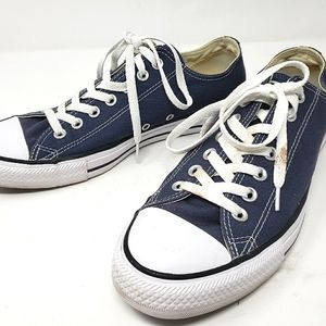Converse Navy Blue Low Top Sneakers size 9.5